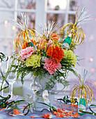 Bouquet of Dianthus, Asparagus, Pittosporum