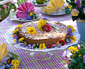 Colorful spring table decoration