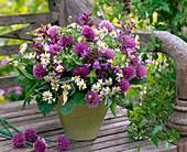 Bouquet of Allium, Chamomilla, Salvia