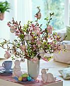 Easter bouquet mode from Prunus (cherry, bird cherry)