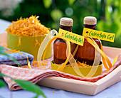 Homemade marigold oil