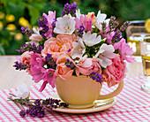Bouquet made of Rose, malva, lavandula