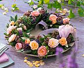 Wreath of Rose, lavandula, rosmarinus, olea