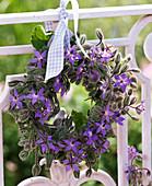Borago wreath on balcony railing