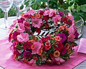 Petunias wreath