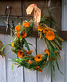Wreath of Calendula, Triticum, Panicum