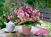 Bouquet of Anemone, Astilbe, Hydrangea