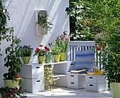 Balcony with storage space