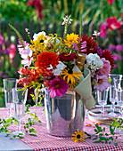Bouquet from Dahlia, Phlox, Rudbeckia