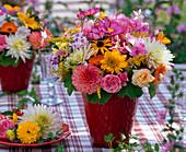 Bouquet made of Rudbeckia (sun hat), Rose, Dahlia