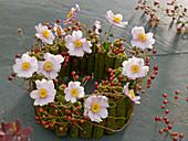Wreath of knotweed stems