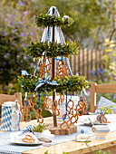 Bavarian maypole as homemade table decoration