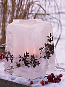 Ice art, decorative objects made of ice
