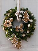 Christmas door wreath from Abies (fir)