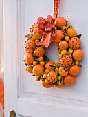 Citrus scented door wreath (tangerine and kumquat)