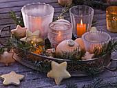 Frozen table arrangement, evening mood
