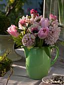 Hyacinthus (hyacinth), Tulipa (tulip), anemone