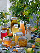 Jams, juices and canned fruits