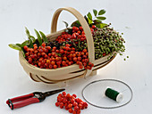 Wreath of rowanberries and elderberry
