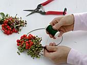 Wreath made of rowanberries and elderberry