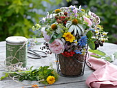 Late summer bouquet of herbs and medicinal plants