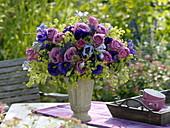 Bouquet of Rose, eustoma, alchemilla