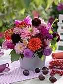 Mixed dahlia bouquet