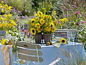 Yellow late summer bouquets
