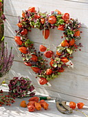 Lantern flower herat, broom heath, hydrangea and rosehip