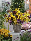 Autumnal farmers garden bouquet