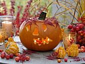 Halloween pumpkins tinker with kids