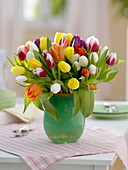 Multi-colored Tulipa bouquet (tulip)