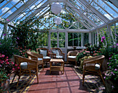 INTERIOR of CONSERVATORY BOSVIGO HOUSE,TRURO,Cornwall