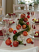 Simple, Christmas apple table decoration