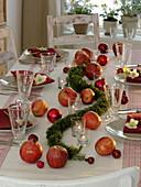Simple, Christmas apple table decoration