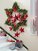 Homemade star advent calendar
