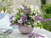 Bouquet of flowering shrubs