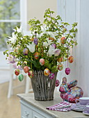 Unusual Easter bouquet made with Tulipa 'White Triumphator'