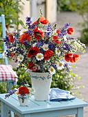 Meadow bouquet, Papaver rhoeas, Salvia pratensis