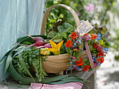 Gift basket with vegetables from own harvest