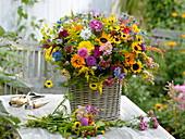 Colorful cottage garden bouquet