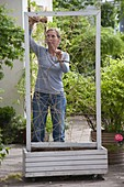 Mobile privacy screen with black-eyed Susanne