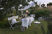 Small summer party in the garden