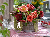 Late summer arrangement with berries