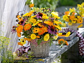 Late summer bouquet, Calendula (Marigold), Echinacea purpurea