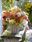Variegated bouquet of different Dahlia