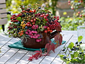 Wild fruits autumn bouquet