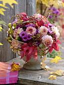 Mixed Autumn Bouquet, Dahlia, Aster, Sedum