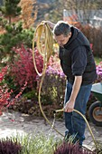 Emptying and clean up hose in autumn