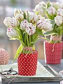 Stehstrauß aus Tulipa 'Carneval de Nice' (Tulpen)